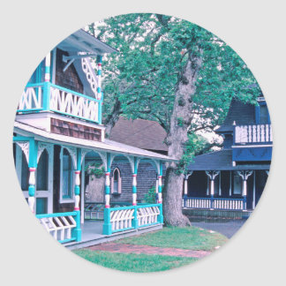 Gingerbread Houses Tom Wurl Classic Round Sticker