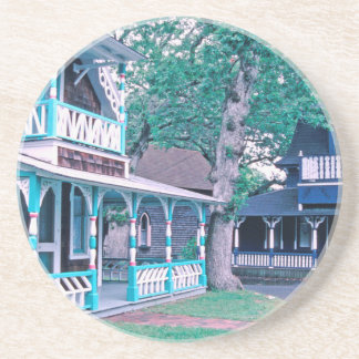 Gingerbread Houses Tom Wurl Sandstone Coaster
