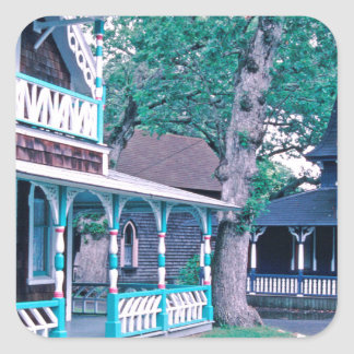 Gingerbread Houses Tom Wurl Square Sticker