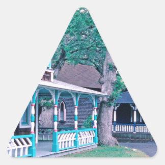Gingerbread Houses Tom Wurl Triangle Sticker