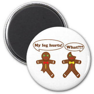 Gingerbread Humor 2 Inch Round Magnet