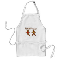 Gingerbread Humor Adult Apron