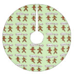 Gingerbread Humor Brushed Polyester Tree Skirt