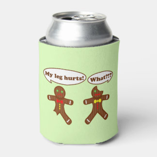 Gingerbread Humor Can Cooler
