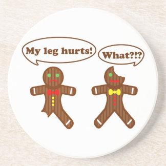 Gingerbread Humor Drink Coaster