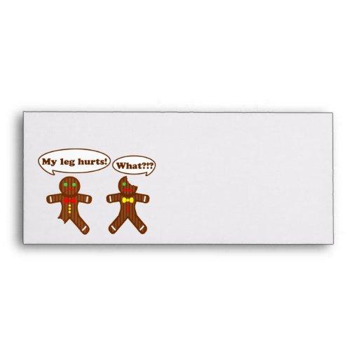 Gingerbread Humor Envelope