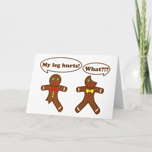 Gingerbread Humor Holiday Card