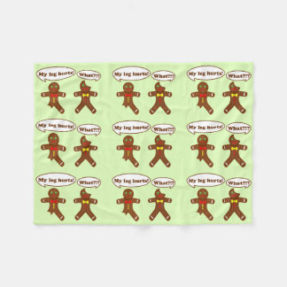 Gingerbread Humor Pattern Fleece Blanket