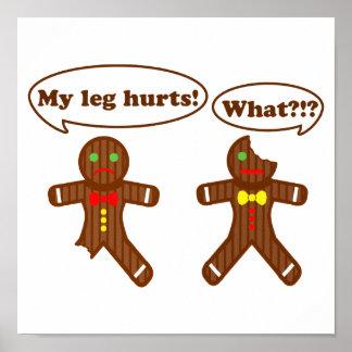 Gingerbread Humor Poster