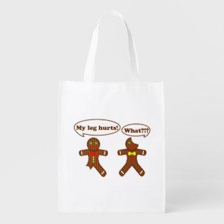 Gingerbread Humor Reusable Grocery Bag