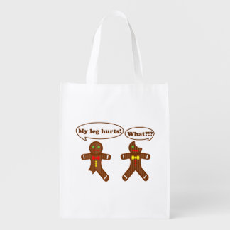 Gingerbread Humor Reusable Grocery Bags
