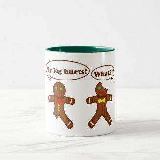 Gingerbread Humor Two-Tone Coffee Mug