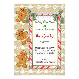 Gingerbread Invitation