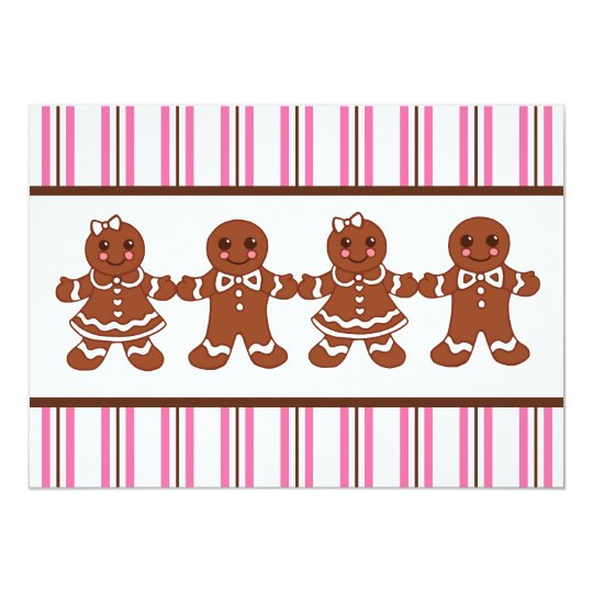 Gingerbread Invitations
