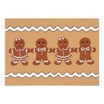"""Gingerbread Invitations 5"""" X 7"""" Invitation Card"""