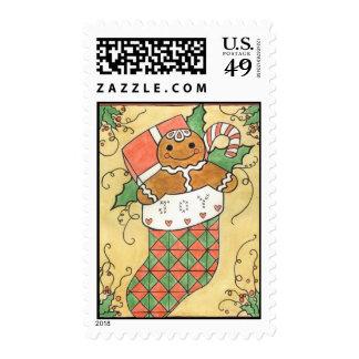 Gingerbread Joy Stocking Postage
