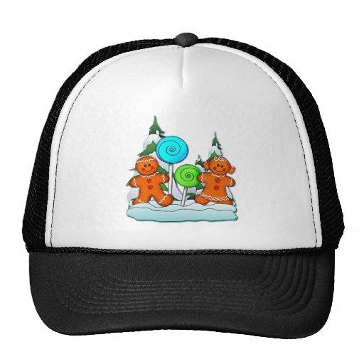 GINGERBREAD KIDS AND LOLLIPOPS by SHARON SHARPE Trucker Hat