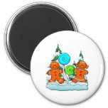 GINGERBREAD KIDS AND LOLLIPOPS by SHARON SHARPE 2 Inch Round Magnet