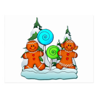 GINGERBREAD KIDS AND LOLLIPOPS by SHARON SHARPE Post Card