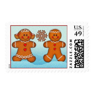 GINGERBREAD KIDS  by SHARON SHARPE Stamp