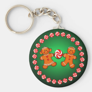 GINGERBREAD KIDS & CANDY by SHARON SHARPE Keychain