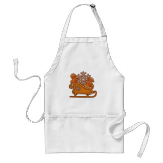 GINGERBREAD KIDS COOKIES & SLEIGH by SHARON SHARPE Adult Apron