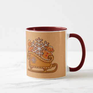 GINGERBREAD KIDS COOKIES & SLEIGH by SHARON SHARPE Mug