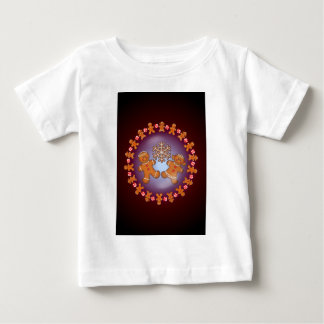 GINGERBREAD KIDS & WREATH by SHARON SHARPE Baby T-Shirt