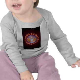 GINGERBREAD KIDS & WREATH by SHARON SHARPE T-shirt