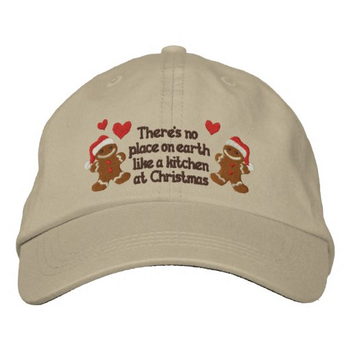 Gingerbread Kitchen Embroidered Baseball Cap