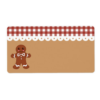 Gingerbread Kitchen Label Shipping Label