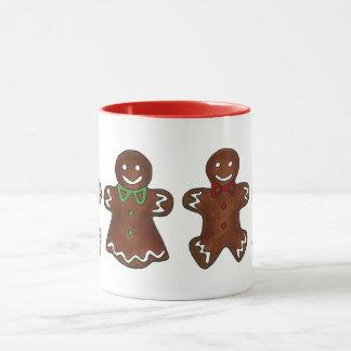 Gingerbread Lady Woman Christmas Holiday Cookie Mug