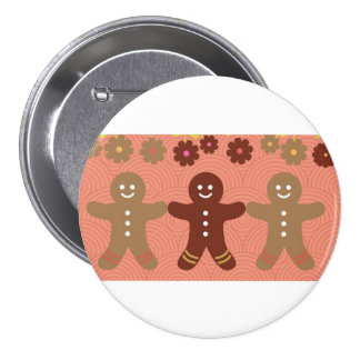 Gingerbread large button