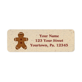 Gingerbread Man Address Label