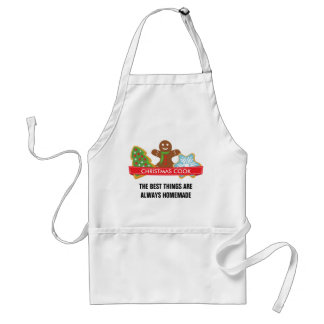 Gingerbread Man and Christmas Cookies Adult Apron