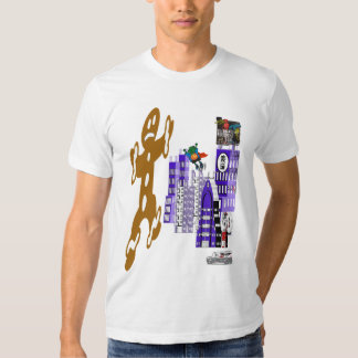 gingerbread man and ghoul boy fight t-shirt