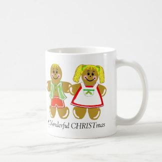 Gingerbread Man and Woman Christmas Mug