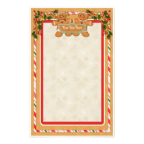 Gingerbread Man and Woman Stationery