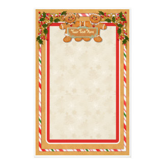 Gingerbread Man and Woman Stationery Paper