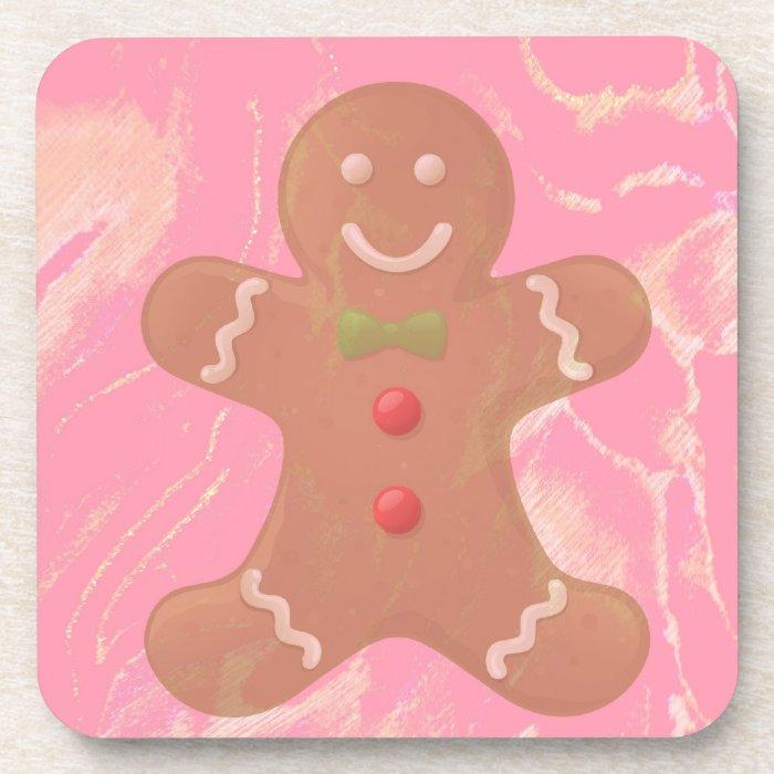 Gingerbread Man Art Coaster Set