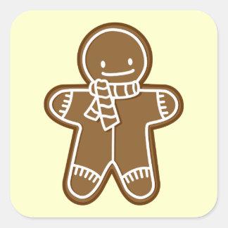 Gingerbread man Bag Square Sticker