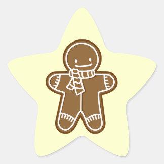 Gingerbread man Bag Star Sticker