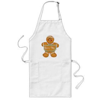 Gingerbread Man - Bite Me Long Apron