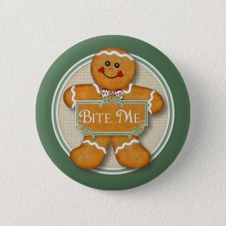 Gingerbread Man - Bite Me Pinback Button