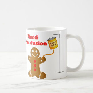 Gingerbread Man Blood Bank and Blood Transfusion Mug