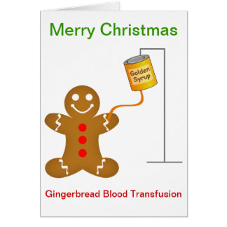 Gingerbread Man Blood Transfusion Card