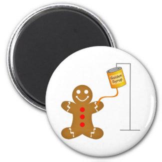 Gingerbread Man Blood Transfusion Fridge Magnets