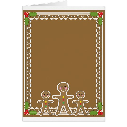 Gingerbread Man Border Card