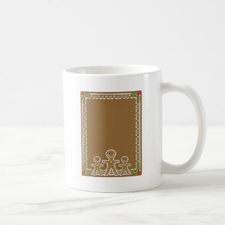 Gingerbread Man Border Coffee Mug