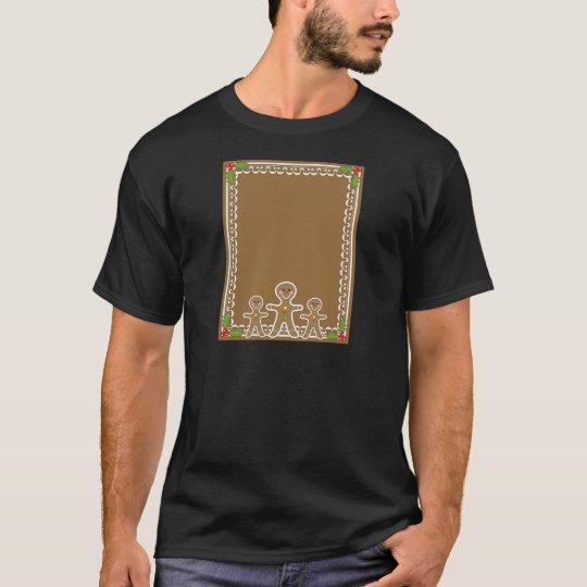 Gingerbread Man Border T-Shirt